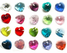Swarovski Crystal 6228 Heart Xilion Pendant Element Many Color / Size ~ #1