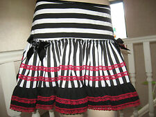 NEW Black,Red,white stripes,lace,pirates Frilly Mini Skirt,Punk,rock All sizes