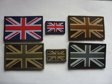 TRF DZ UNION JACK SMALL & LARGE RWB & MTP GREEN FLAG BADGES VELCRO DESERT MONO