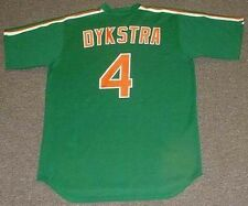 "LENNY DYKSTRA New York Mets 1985 Majestic ""St. Patty's Day"" Throwback Jersey"