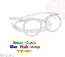 Straw Glasses - Clear Blue Orange, Green, Pink  Kids Party Bag - Drinking Games