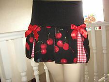 NEW Goth,Punk,Rock,Black,red,white Check,Cherries Rockabilly Skirt-All sizes