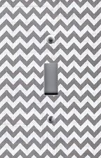 Light Switch Plate Switchplate & Outlet Covers CHEVRON - GRAY & WHITE