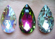 New Lot Fashion Multi Face Teardrop Crystal Glass Beads Pendants More Size