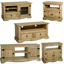 MEXICAN PINE CORONA TV UNIT, TELEVISION CABINET, TV STAND FREE NEXT DAY DELIVERY