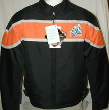 New Black & Orange 600D Duratex Lightweight Armored Motorcycle Biker Jacket $125