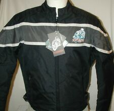 New Black & Gray 600D Duratex Armored Motorcycle Biker Jacket Reg $125 CLOSEOUT