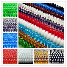 Free LOT Wholesale Rondelle Glass Spacer findings Beads 8mm Many Colors Choose