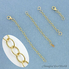 GOLD FILL 14k/20 Safety or EXTENDER CHAIN Custom Handmade Your Style/ Length USA