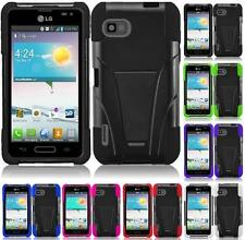 For MetroPCS / T-mobile LG Optimus F3 MS659 T-Stand Tuff Kickstand Cover Case