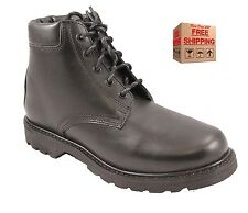 Mens Black Leather Goodyear Lace Up Boots Size 7 to 11 UK -  WORK CASUAL LEISURE