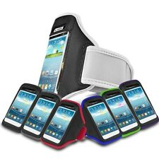 JOGGING ACTIVE SPORTS WHITE ARMBAND FOR VARIOUS MOBILE PHONES
