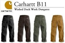 Carhartt - Style: B11 - Men's Washed Work Dungaree Pants Jeans