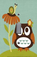 Light Switch Plate Switchplate & Outlet Covers KID'S ROOM ~ OWL WITH SNAIL CUTE