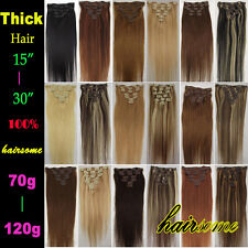 """15""""18""""20""""22""""24""""26""""30"""" 100% Remy Real Clip In Human Hair Extentions 70g-120g LOT"""