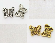 Free Shipping 20Pcs Tibet Silver ,Gold two-sided Butterfly spacer bead 11x9mm