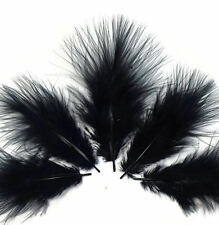 Marabou Feathers BLACK by weight (1-3 inches approx) Crafts, Cards etc