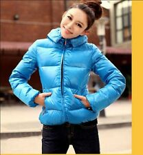 Womens Warm Hoodie Down Winter Parka Coat Faux Fur Collar Outwear Zipper jacket