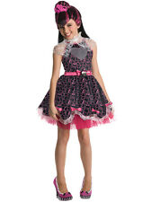 Child Monster High Draculaura Fancy Dress Costume Wig Halloween Book Week Kids