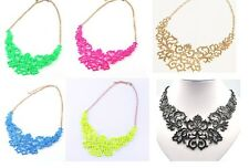 New Arrived Fashion Hollow Metal Bib Necklace Hot Selling A1719