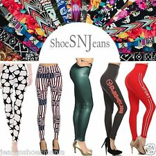NEW Skinny Colorful Print Leggings Stretchy Sexy Jeggings Pencil Pants