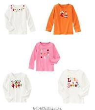 NWT Girl's Gymboree Cozy Cutie Long Sleeve Embellished Tops 6 7