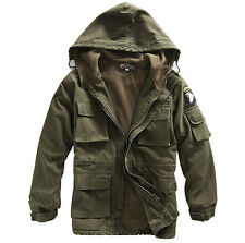 outdoors camping Outerwear mens coat Cotton Hooded Warm jacket Military coats