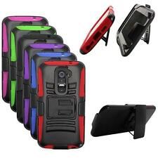 Phone Case For LG G2 4G LTE / LG Optimus G2 Holster Rugged Hard Cover Stand