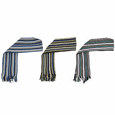 Z94 MENS SOFT ACRYLIC WINTER WARM BRUSHED RETRO MULTI STRIPE COLLEGE SCARF SNOOD