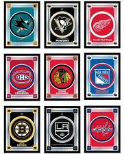 "Choose Your NHL Hockey Team 17"" x 22"" Framed Lithograph Color Logo Wall Mirror"