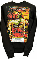 UNISEX BLACK SWEATSHIRT B-MOVIE BELA LUGOSI BRIDE OF THE MONSTER BLACK XS - 3XL