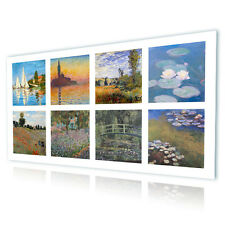 HUGE Canvas Claude Monet Collage Set Lot 8 pic decor fine art gallery photo