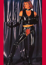 THE FEDERATION GLOSS PVC  JEANS CHAPS  ALL SIZES COLOURS NEW PLUS SIZES