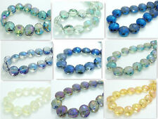 Free Shipping 10pcs 14mm Faceted Flower crystal glass Loose beads ※ Pick Color