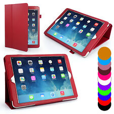 Stand Folio Wallet Leather Case For Apple iPad 5 iPad Air + Screen Protector