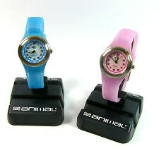 ANIMAL Water Resistant Stainless Steel Pink or Blue Sports Watch Silicone Strap