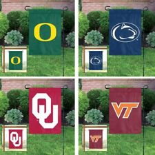 Choose Your NCAA N-Z Team Applique Embroidered Garden & Window Flag Banner