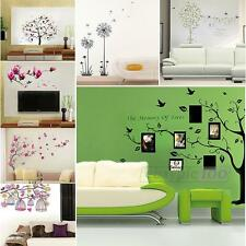 Multi Flower Tree Mural Home Window Art Decor Mural Wall Sticker Decal New