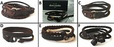 1 BRAND NEW FASHIONABLE ABERCROMBIE & FITCH LEATHER BRACELET ONE SIZE