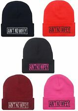 NEW AIN'T NO WIFEY CUFFED BEANIE SKULL CAP HIP HOP HAT MANY COLORS AVAILABLE