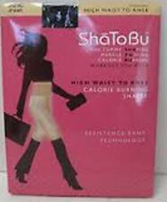 ShaToBu High-Waist To Knee Calorie Burning Shaper M Or L Buff or Black