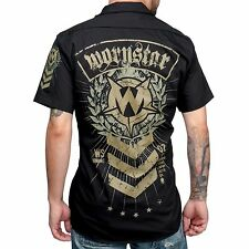 Wornstar Seargent SGT Military Theme Work Shirt Metal Rock Clothing Apparel