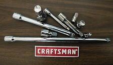 """NEW... CRAFTSMAN SOCKET Extensions - Any Size - 1/4"""" 3/8"""" and 1/2"""" inch"""