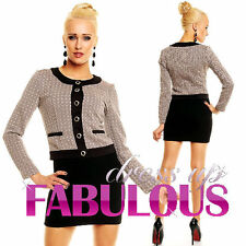 NEW SEXY 8 10 12 WOMEN'S SHORT JACKET HOT OUTERWEAR FORMAL PARTY OFFICE CLOTHES