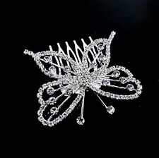 Beauty Swarovski Crystal Butterfly Comb Headband Tiara Bridal Jewelry 0025d Hot