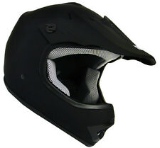 Youth Matte Black Motocross Motorcross Dirt Bike Off-Road Mx Atv Helmet~S, M, L
