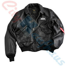 Alpha Industries Cwu Fl Men's Fake Leather Bomber Jacket 133109 Military