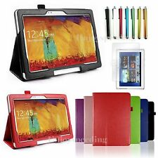 10.1 Case Folio PU Leather Cover Stand Samsung Galaxy Note  2014 Edition SM-P600