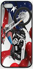 Rikki Knight American Flag Harley Davidson Case for iPhone 4/4s, 5/5s, 5c, 6/6p
