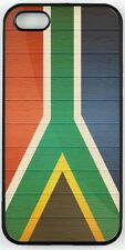 Rikki Knight South Africa Flag on Distressed Wood Case for iPhone 4, 5 & 6
